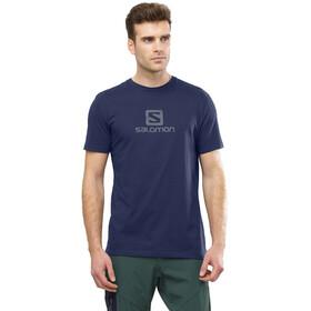 Salomon Coton Logo T-shirt Homme, night sky